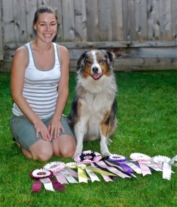 Dove and Riot with his 2012 AAC Nationals ribbons